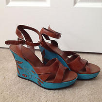 Bandolino Sandals With Turquoise Design Photo