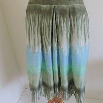 Bandolino Silk Tie Dye Skirt M Medium Stunning Colors Photo