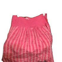 Bandolino Size 16 Bright Pink Striped Flare Skirt Photo