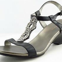 Bandolino Size 9 M Black Gladiator Leather Women Sandal Shoes  Photo