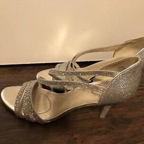 Bandolino Sparkle Heels Shoes Size 9.5 Prom Wedding  Photo
