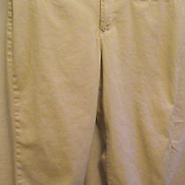 Bandolino Stretch Khaki Capris Cuff Size 10 Excellent Condition Photo