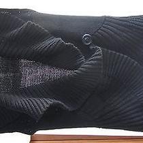 Bandolino Sweater Vest New W/o Tags - Button/snap Black Medium Free Ship Euc Photo