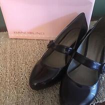 Bandolino Sz 6 1/2 Burgundy Patent Mary Jane Chunky Heel Women Pumps Nwb Photo