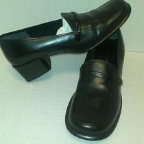 Bandolino Sz 8 M Black Leather Loafers Rj-B2  Photo