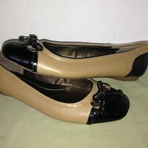 Bandolino Sz 9 Tan Black Leather Flats Gb7 Photo