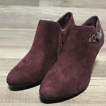 Bandolino Wendy 2 Dark Red Fabric Women's Boots Sz 8m E2-250 Photo
