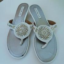 Bandolino White Sandals- Comes With a Gift  Photo