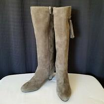 Bandolino Women's Bacia Gray Suede Size 8.5 Tassle High Heeled Boots Very Nice Photo