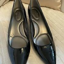 Bandolino Women's Black Patent Leather Pumps Heels Shoes Size 9.5m Zurina B14 Photo