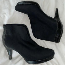 Bandolino Women's Bootie Ankle Boot Black Size 7.0 9qjz Slight Wear Photo