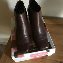 Bandolino Women's Brown Genuine Leather Ankle Boots With Side Zip Size 8 1/2 M  Photo