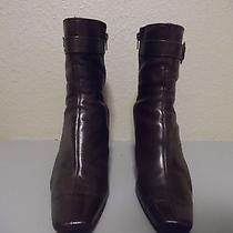 Bandolino Women's Brown Leather Mid-Calf Boots Zipper Size 10 M Photo