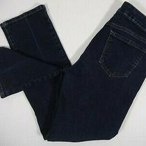 Bandolino Women's Caroline Straight Leg Dark Wash Denim Blue Jeans Size 8 Photo
