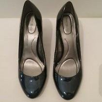 Bandolino Women's Dressy Shoes Heels  Size 9.5m   Two Tone  Navy/black   (T021l) Photo