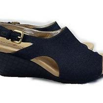 Bandolino Women's Galatee Open Toe Formal Platform Sandals Denim Blue Size 8.5 Photo