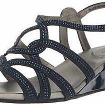 Bandolino Women's Galtelli Wedge Sandal Navy Size 6.0 Kdvf Photo