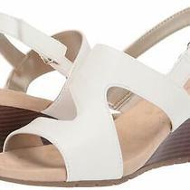 Bandolino Women's Gannett Wedge Sandal White Size 8.5 Pcfm Photo