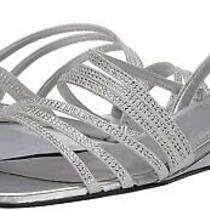 Bandolino Women's Heeled Sandal Silver Size 9.0 Xhsg Photo