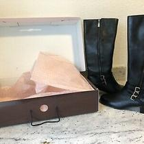 Bandolino Womens Knee High Leather Boots- Black Sz 8.5 Photo