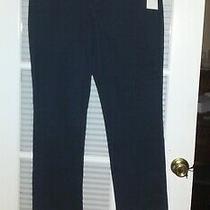 Bandolino Women's Majestic Blue Mandie Straight Leg Stretch Jeans Sz 12p  Short Photo