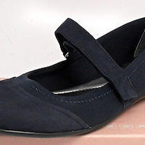 Bandolino Women's Natsuko Mary Jane Flats Navy Blue Nubuck 10.5 M Us Fr4 Gk12 Photo