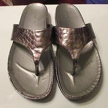 Bandolino Women's Piano Brown Reptile T-Strap Sandals Size 9 M 1
