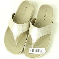 Bandolino Women's Piano Flip Flops Sandal - Beige - Size 7-1/2 Photo