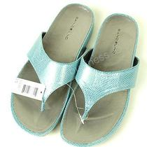 Bandolino Women's Piano Flip Flops Sandal - Blue - Size 8-1/2 Photo
