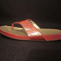 Bandolino Women's Piano Flip Flops Sandal - Coral Orange - Size 9 M Photo