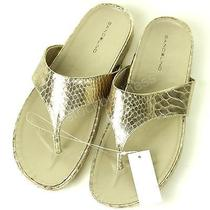 Bandolino Women's Piano Flip Flops Sandal - Gold - Size 9 Photo