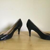 Bandolino Women's Pump 3 Inch Heel Open Toe Black Patent Leather Sz 81/2 Photo