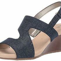 Bandolino Women's Shoes Gannett Open Toe Casual Platform Denim Size 8.0 Nlsm Photo
