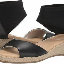 Bandolino Women's Sidney Wedge Sandal Black Size 8.0 Tjtu Photo