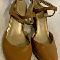 Bandolino Womens Tania Wedge Pump Strap Heels Shoes Size 8 Tan Photo