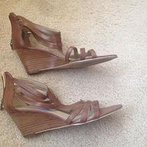 Bandolino Women's Wedge Sandals With Zipper in Back - Nwob Size 7.5 Photo