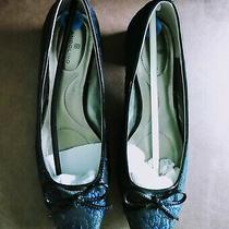 Bandolino Women Shoe Sz 6.5 Black/blue Brocade Patent Leather Pump New(other) Photo