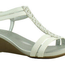 Bandolino Womens 25025105 White Ankle Strap Heels Size 9.5 (398118) Photo