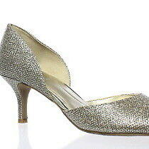 Bandolino Womens 25025132 Gold Glamour Open Toe Heels Size 5.5 (104389) Photo