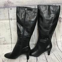Bandolino Womens Black Wellspring Closed Toe Zip Knee High Fashion Boots Size 8m Photo
