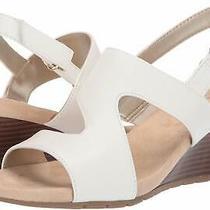 Bandolino Womens Gannet 2 Open Toe Casual Mule Sandals White Size 11.0 Zele Photo