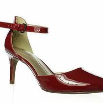 Bandolino Womens Ginata Rosy Red Ankle Strap Heels Size 8 (1284585) Photo