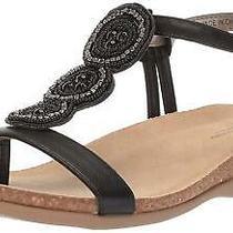 Bandolino Womens Hamper Open Toe Casual T-Strap Sandals Black Size 8.0 Photo