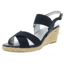 Bandolino Womens Hearsay 2 Navy Wedge Sandals Shoes 6 Medium (Bm)  9378 Photo