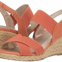 Bandolino Womens Hearsay2 Open Toe Casual Slingback Sandals Tangerine Size 9.0 Photo