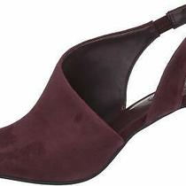 Bandolino Womens Jasmine Leather Peep Toe Formal Mule Sandals Sangria Size 8.0 Photo