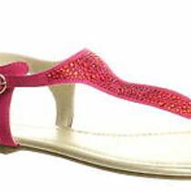 Bandolino Womens Kyrie Raspberry T-Strap Sandals Size 8.5 (1279242) Photo
