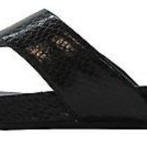 Bandolino Womens Piano Flip Flops Sandal Shoe 7.5 Black Photo