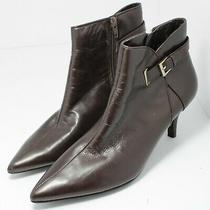 Bandolino Womens Pointed Toe Ankle Chelsea Boots Brown Leather Size 8 Photo
