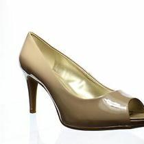 Bandolino Womens Rainaa Cafe Latte Peep Toe Heels Size 11 (1321104) Photo